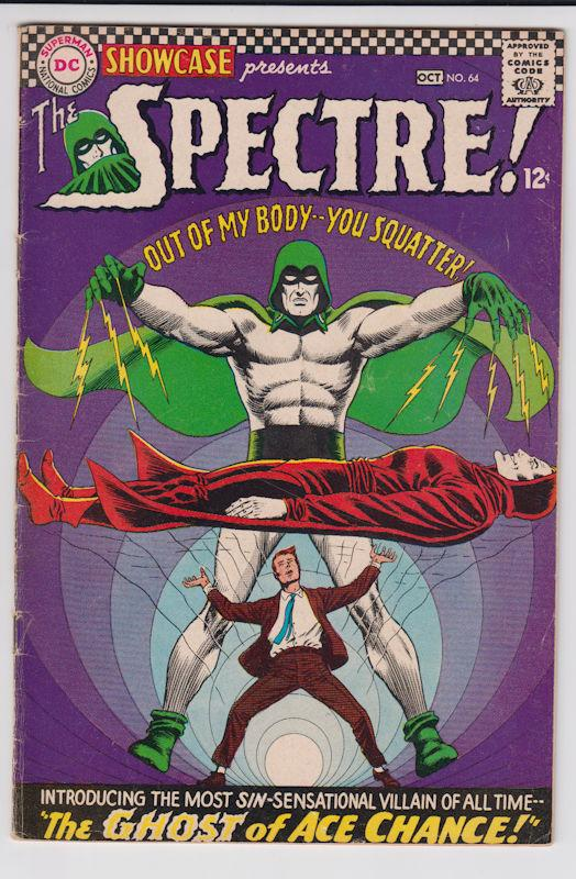 Showcase #64 (Sep-Oct 1966, DC) The Spectre Silver Age Gem! VG/Fn