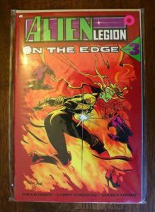 ALIEN LEGION ON THE EDGE #3, NM-, Epic, sci-fi, 1990, more in store...