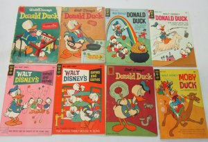 Donald Duck lot 10 diff books 10, 12 + 15 cents covers (Silver + Bronze Ages)