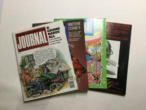 Comics Journal 121-126 Magazine Lot Very Fine Vf 8.0 Pacific Comics