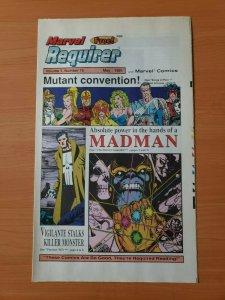 Marvel Requirer #15 Promo Infinity Gauntlet ~ NEAR MINT NM ~ 1991 Marvel Comics