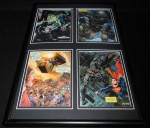 Batman v Superman Lights Out Framed 11x14 Comic Book Display