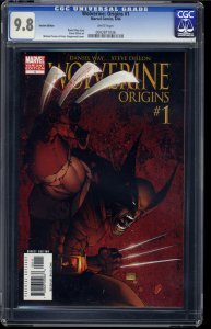 Wolverine: Origins #1 CGC NM/M 9.8 White Pages Michael Turner Variant!