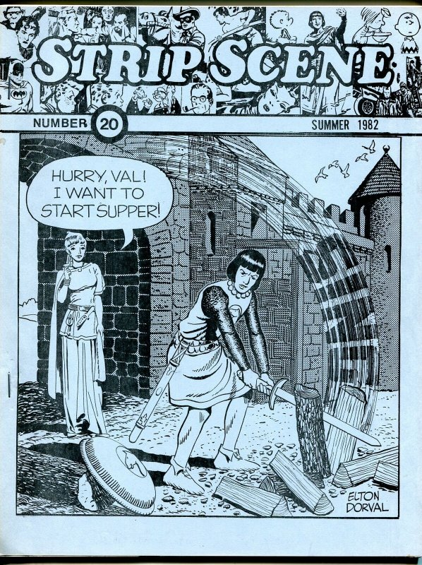 Strip Scene #20 Summer 1982-newspaper comic strip fanzine-Dorval-Carl Horak-VG