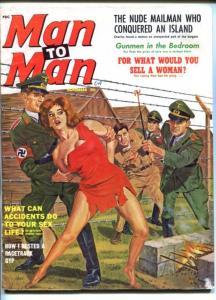 MAN TO MAN-NOV 1962-NAZI-BRANDING-CHEESECAKE-TERROR-TORTURE-good/vg
