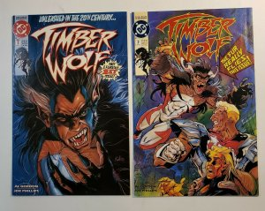TIMBER WOLF #1-5 COMPLETE SET NM DC COMICS 1992