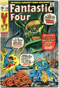 FANTASTIC FOUR #108, VF, Mega-Man, Jack Kirby, 1961, more FF in store, QXT
