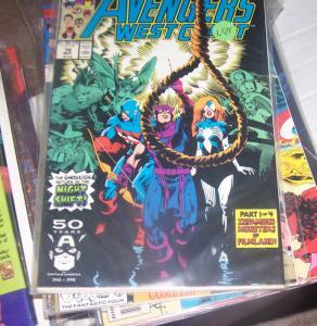west coast avengers  #  76 NOV 1991  THE NIGHT SHIFT RETURNS +MONSTERS