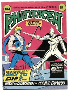 Phantacea #1 1977- early DAVE SIM- sci-fi comic VG