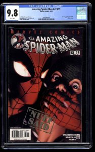 Amazing Spider-Man (1999) #39 CGC NM/M 9.8 White Pages