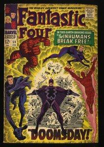 Fantastic Four #59 VG- 3.5 Marvel Comics