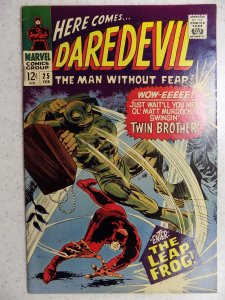DAREDEVIL # 25 MARVEL SILVER FEAR ACTION ADVENTURE HI GRADE VF