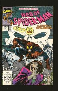 Marvel Comics Web of Spider-Man Vol 1 No 63 April 1990