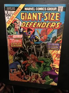 Giant-Size Defenders #2 (1974) wow! High-grade giant issue key!  VF Son of Satan