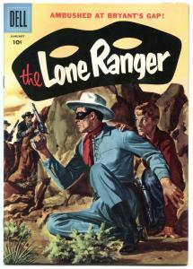 Lone Ranger #103 1957-Dell-painted cover-Ambush At Bryant's Gap VF