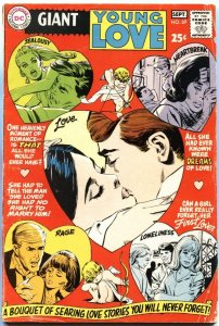 YOUNG LOVE #69-GIANT ISSUE-ROMANCE COVER-MOD FASHIONS AND HAIR STYLES