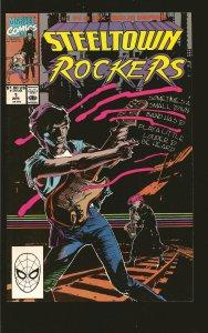 Marvel Comics Steeltown Rockers #1 (1990)