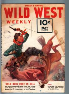 WILD WEST WEEKLY 5/17/1941-WESTERN PULP-SILVER KID VG/FN