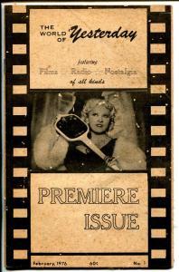 World of Yesterday #1 2/1976-1st issue-Mae West-nostalgia-film info-G/VG