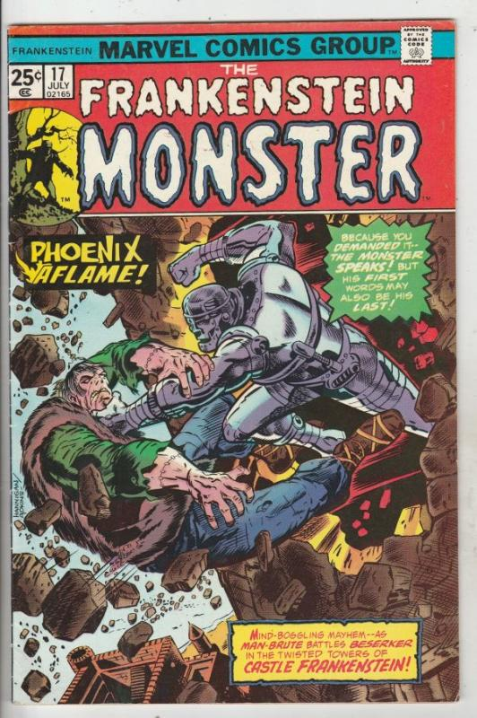 Frankenstein, the Monster of #17 (Jul-75) VF High-Grade Frankenstein