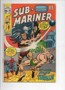 SUB-MARINER #40, VG+, Gene Colan, Marvel, 1968 1971, more in store, Spider-man