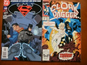 2 Comic: DC SUPERMAN BATMAN #20 (2005) + Marvel CLOAK & DAGGER #14 (1990)