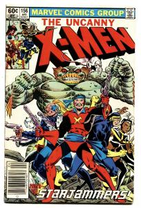 X-MEN #156 1982- STARJAMMERS appearance -MARVEL F/VF