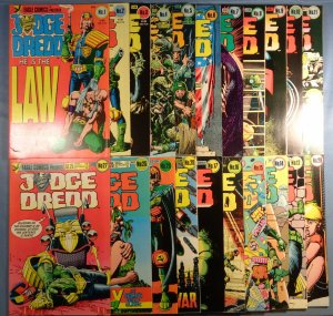 Lot of 21 Judge Dredd Comics #1-29 Eagle Comics 1983 1st Series
