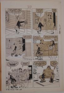 HARVEY #1 3-D original art, SAD SACK, New Girl, pgs 28 29 30 31, 1954, 4 pgs