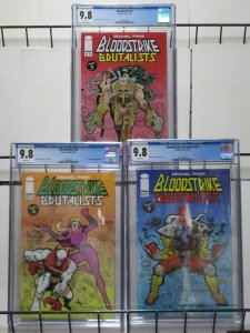 Bloodstrike Brutalists by Michel Fiffe Parts 1-3 CGC Graded! 9.8