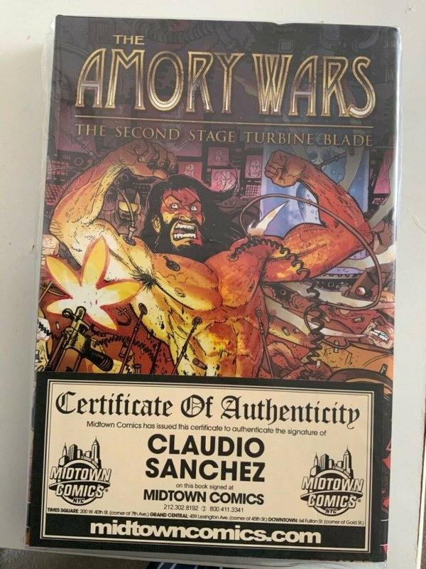 Amory Wars: Second Stage Turbine Blade SIGNED HARDCOVER W/COA