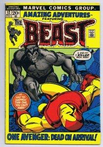 Amazing Adventures #12 ORIGINAL Vintage 1972 Marvel Comics Beast Iron Man