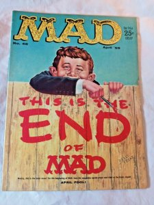 VTG Mad Magazine 46 1959 Wally Wood April Fools Donald Duck Charlie Brown VG FN