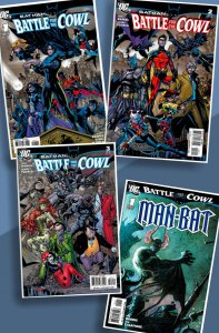 Battle for the Cowl #1-3 (complete series) + Man-Bat One-Shot Tie-in! 2009 VF/NM