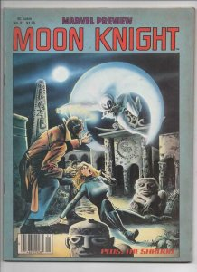 MARVEL PREVIEW #21, FN+,  Moon Knight, Sienkeiwicz, 1980, more Marvel in store