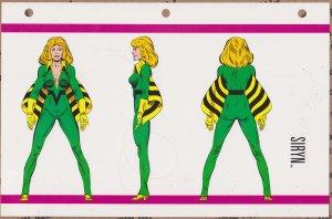 Official Handbook of the Marvel Universe Sheet- Siryn