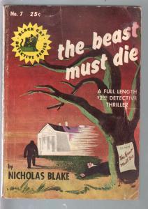 Black Cat Detective #7 1943-Beat Must Die-Nicholas Blake-hardboiled-VG