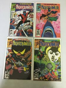 Nightcrawler #1-4 Direct Marvel 1st Series 4 different books 7.0 (1985 to 1986)