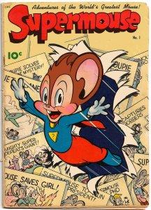 SUPERMOUSE #1 (Dec1948) 5.0 VG/FN Frank Frazetta! Jack Bradbury! Milton Stein!