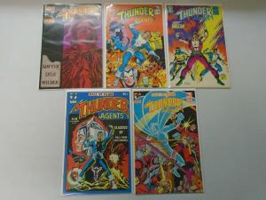 Wally Wood THUNDER Agents comic lot 9 different issues 8.0/VF