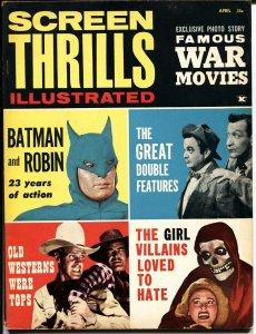 SCREEN THRILLS ILLUSTRATED April 1963-Batman, Tarzan, Crimson Ghost