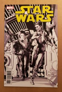 STAR WARS #23 1:100 BLACK & WHITE SKETCH VARIANT MARVEL COMICS 2016 NM