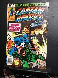 Captain America #247 (1980) High-grade dum dum Dugan!! Mark jeweler insert VF/NM
