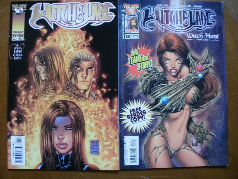 2 Near-Mint Image Top Cow Comic WITCHBLADE #27B (27 B) Variant #80 Wohl Marz