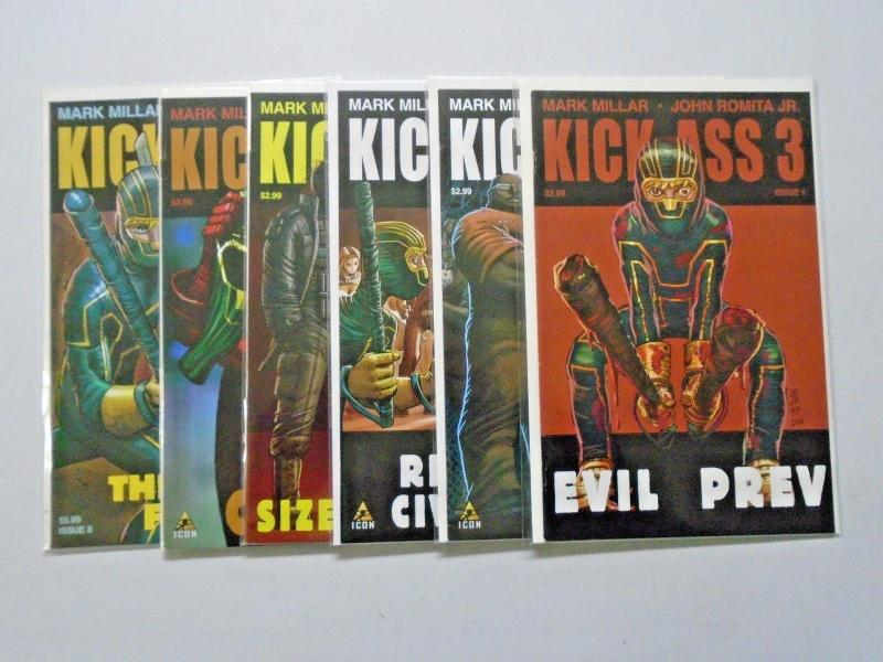 Kick-Ass 3 (III) run #1 to #8 but without #2 and #6 6 different books 8.0 (2013)