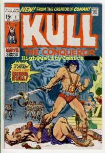 KULL the CONQUEROR #1, FN+, Robert  E Howard,1971, Warrior, King, more in store