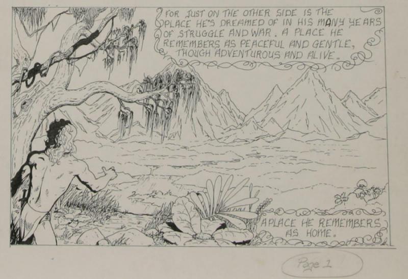 BUDD ROOT original art, CAVEBOY? Cavewoman, early work,1978,15 x 20,on board