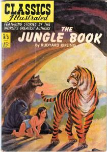 Classics Illustrated #83 (May-55) VF Affordable-Grade Mowgli, Bashira