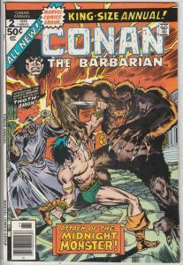 Conan the Barbarian King-Size #2 (Jan-76) NM- High-Grade Conan the Barbarian