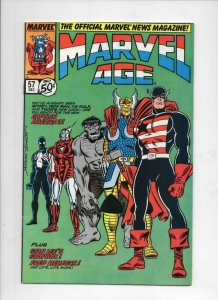 MARVEL AGE #57, VF/NM, Spider-man Hulk Thor, 1985 1987 more Marvel in store